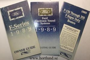 1989 Ford Truck F-100-350 Owner Guide