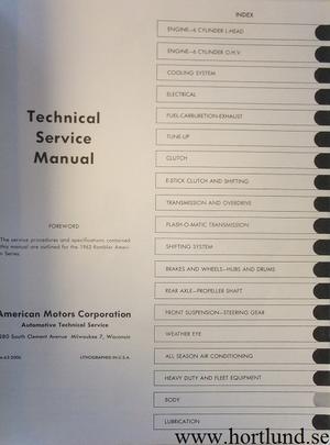 1963 Rambler American Technical Service Manual