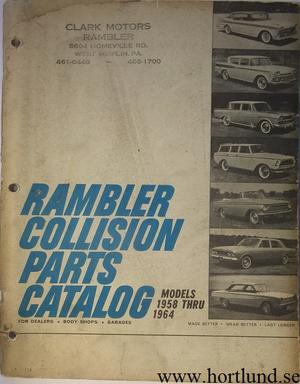 1958 - 1964 Rambler Collision Parts Catalog