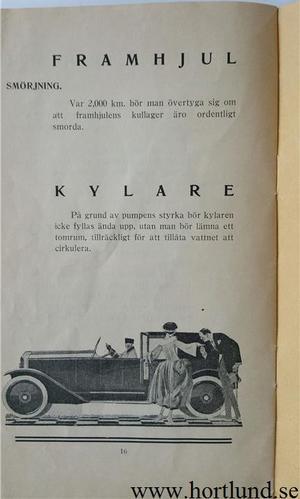 1923 Voisin instruktionsbok svensk