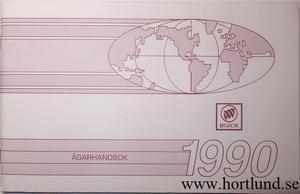1990 Buick alla modeller Ägarhandbok svensk