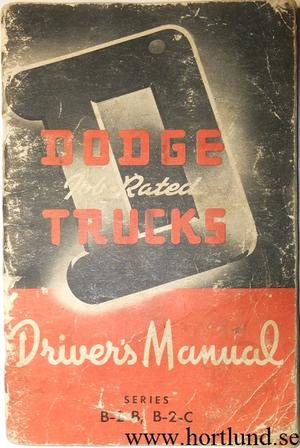 1950 Dodge Pickup Truck Driver's Manual
