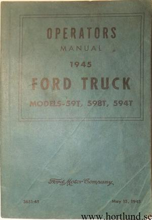 1945 Ford Truck V8 Operators Manual
