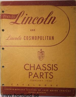1949-1950 Lincoln Chassis Parts Catalogue