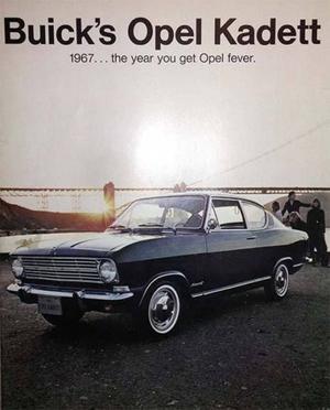 1967 Opel Kadett Broschyr