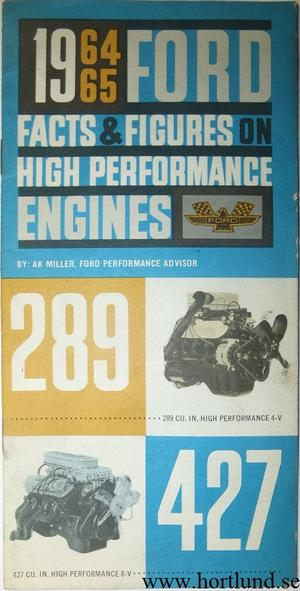 1964 1965 Ford Facts & Figures on High Performance Engines