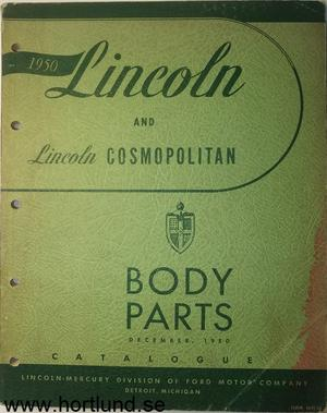 1950 Lincoln Body Parts Catalogue