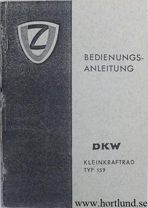 1967 DKW Moped Typ 159 Instruktionsbok