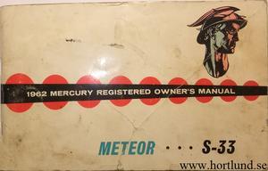 1962 Mercury Meteor S-33 Owners Manual