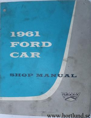 1961 Ford Car Shop Manual