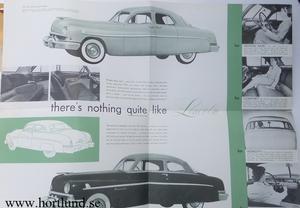1951 Lincoln broschyr