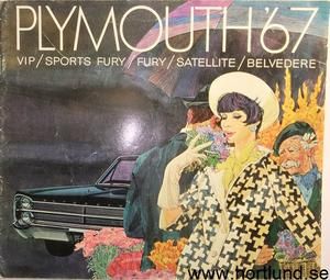 1967 Plymouth Fury Belvedere Valiant broschyr svensk