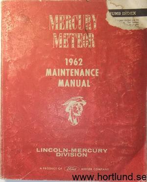 1962 Mercury Meteor Maintenance Manual