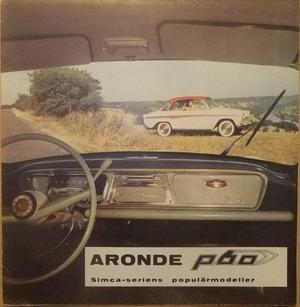 1960 Simca Aronde P60 folder svensk