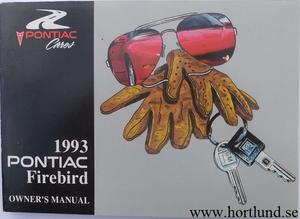 1993 Pontiac Firebird Owners Manual