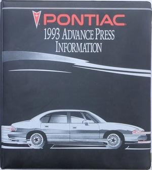 1993 Pontiac Advance Press Information