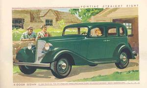 1933 Pontiac Straight 8 broschyr