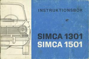 1967 Simca 1301 & 1501 instruktionsbok svensk