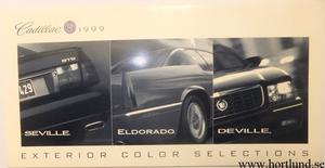 1999 Cadillac Seville Eldorado DeVille Exterior Color Selections