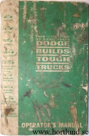 1963 Dodge Truck Operator's Manual