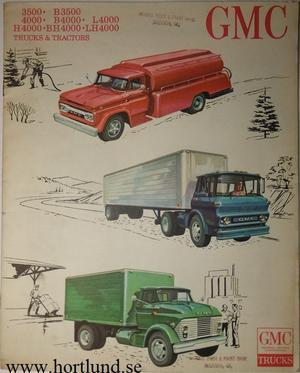 1963 GMC 3500 B3500 4000 B4000 L4000 H4000 BH4000 LH4000 Trucks Broschyr