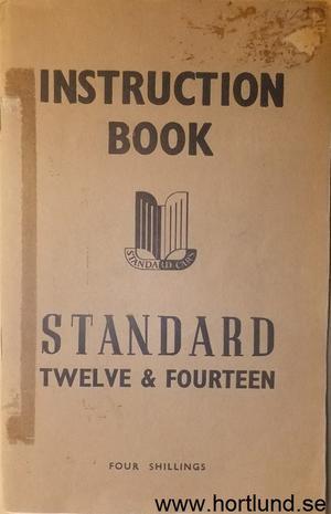 1947 Standard Twelve & Fourteen Instruction Book