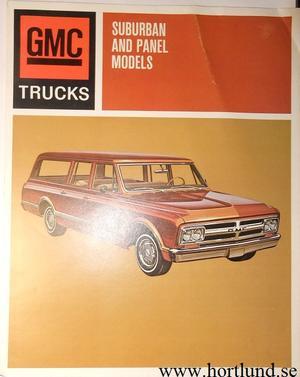 1967 GMC Suburban and Panel Broschyr