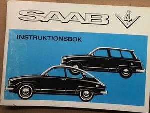 1971 SAAB V4 Instruktionsbok