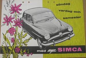 1955 Simca broschyr svensk