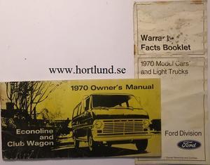 1970 Ford Van Owners Manual