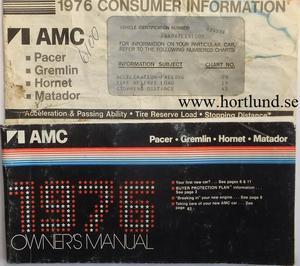 1976 AMC Owner's Manual