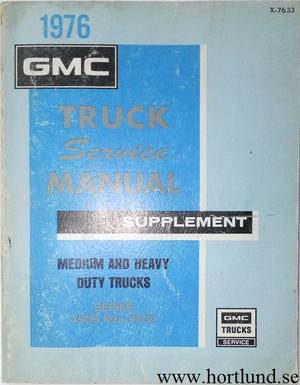 1976 GMC Medium and Heavy Trucks Service Manual supplement