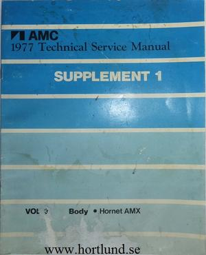 1977 AMC Hornet AMX Technical Service Manual supplement 1