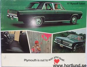 1967 Plymouth Valiant broschyr