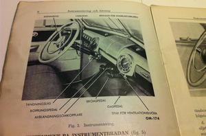 1946 Ford V-8 instruktionsbok svensk