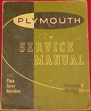1955 Plymouth Service Manual