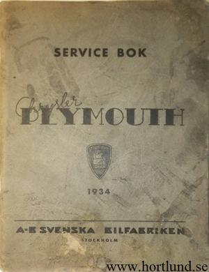 1934 Plymouth Service bok svensk