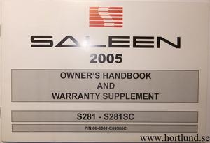 2005 Ford Mustang Saleen Owner´s Handbook