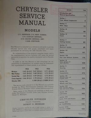 1956 Chrysler och Imperial Service Manual