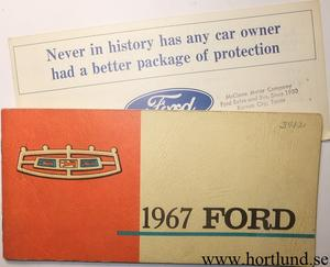 1967 Ford full size Owners Manual