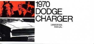 1970 Dodge Charger Operator's Manual