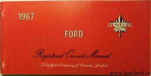 1967 Ford full size Owners Manual Kanada