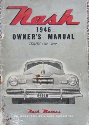 1946 Nash Series 4640-4660 Owner's Manual