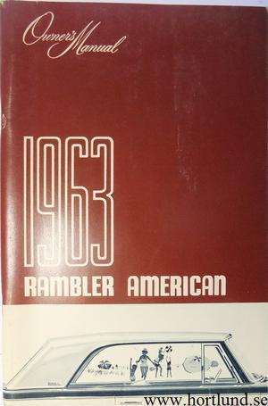 1963 Rambler American Owner's Manual exportutgåva