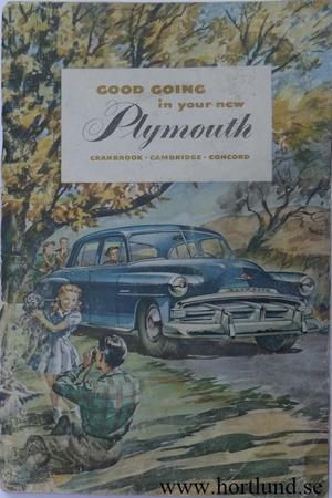 1951 - 1952 Plymouth Instruktionsbok original