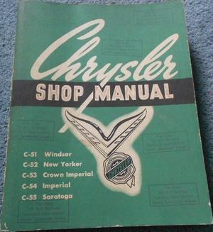 1951 - 1952 Chrysler och Imperial Shop Manual