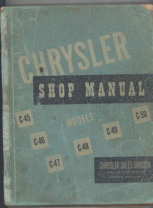1949 - 1950 Chrysler Shop Manual