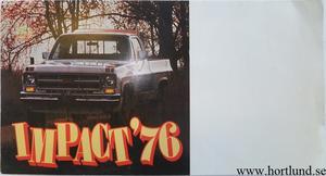 1976 GMC Pickups Impact Broschyr