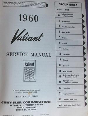 1960 Valiant Service Manual