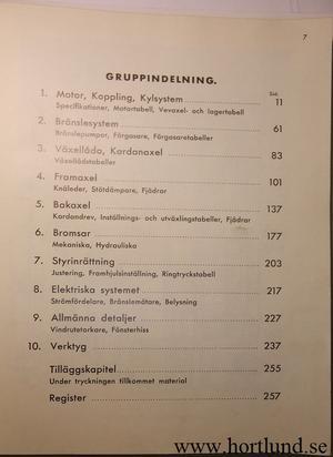 1931 - 1940 Opel Service Handbok på svenska